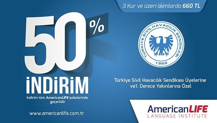 Türkiye Sivil Havacılık Sendikası Üyelerine İndirim