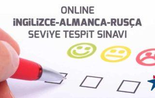 Online İngilizce Almanca Rusça Seviye Tespit Sınavları